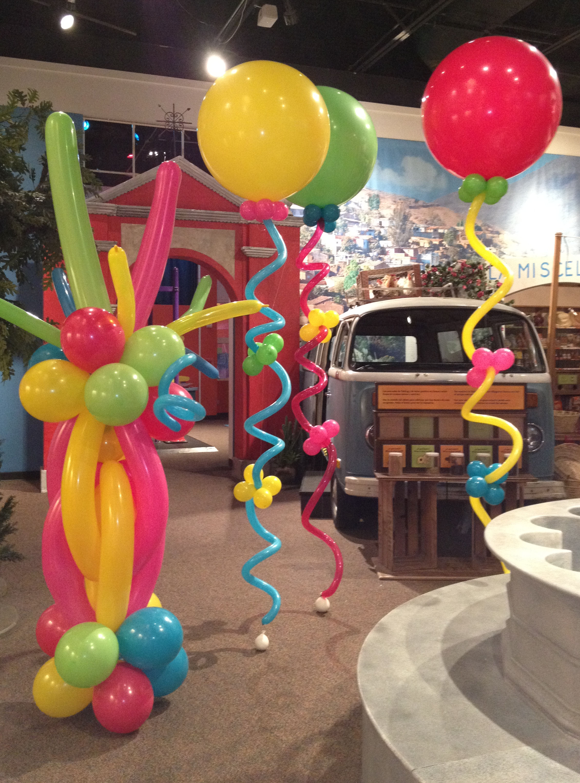 Balloonize your event houston texas balloon column for Balloon column decoration